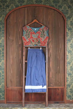 gilet & romantic wrap skirt