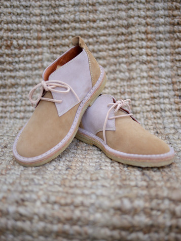 Suede Boots Camel Rose