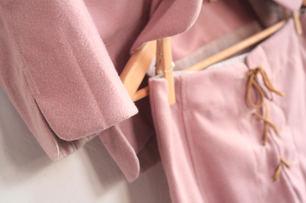 veste fisherman & mini jupe lacé