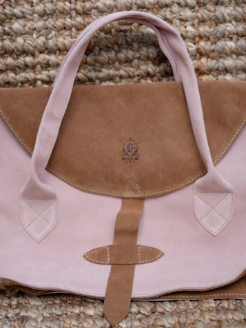 Sac Cartable Camel Rose