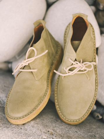 Suede Boots Pistacchio