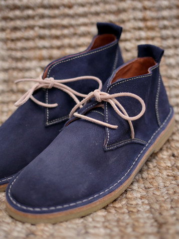 Suede Boots Marine Blue