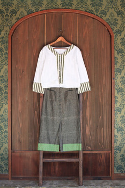 chemise knots & jupe bouttons