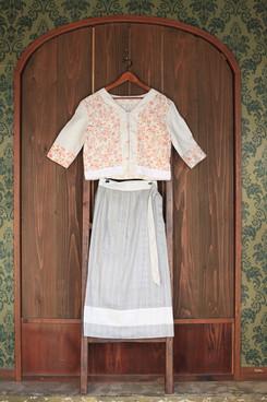chemise knots & romantic wrap skirt