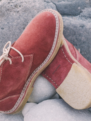 Suede Boots Framboise