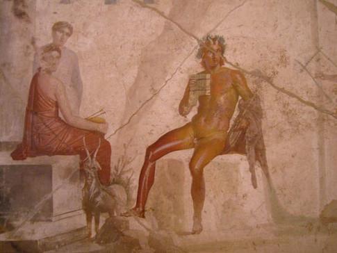 Le dieu Pan et des nymphes