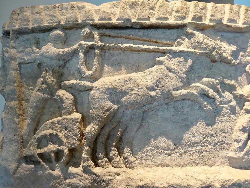 Décor sculpté, Cirque d'Arles, IIème siècle ap. J.-C., Musée départemental archéologique Arles-Antique. Crédits photo © Ariane Buisson.