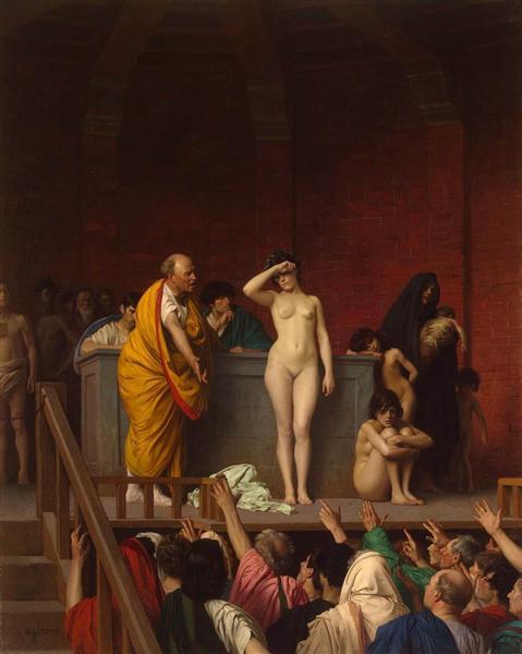 Jean-Léon Gérôme, Vente d'esclaves à Rome, ca. 1884, Musée de l'Ermitage