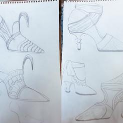 Sketches – Cinderella shoe