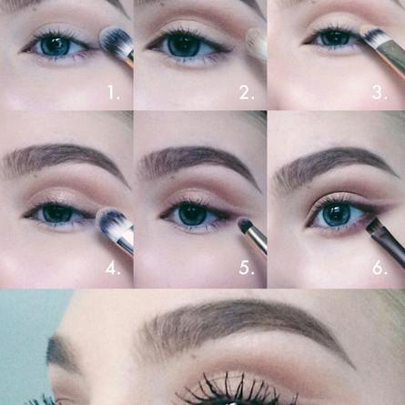 Soft cut crease for autumn makeup tutorial