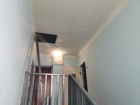 В Химках продолжается реализация региональной программы ремонта «Мой подъезд», по адресу: ул. Грушин