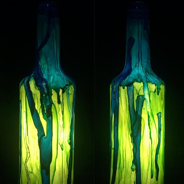 Matched Chartreuse-Aqua set