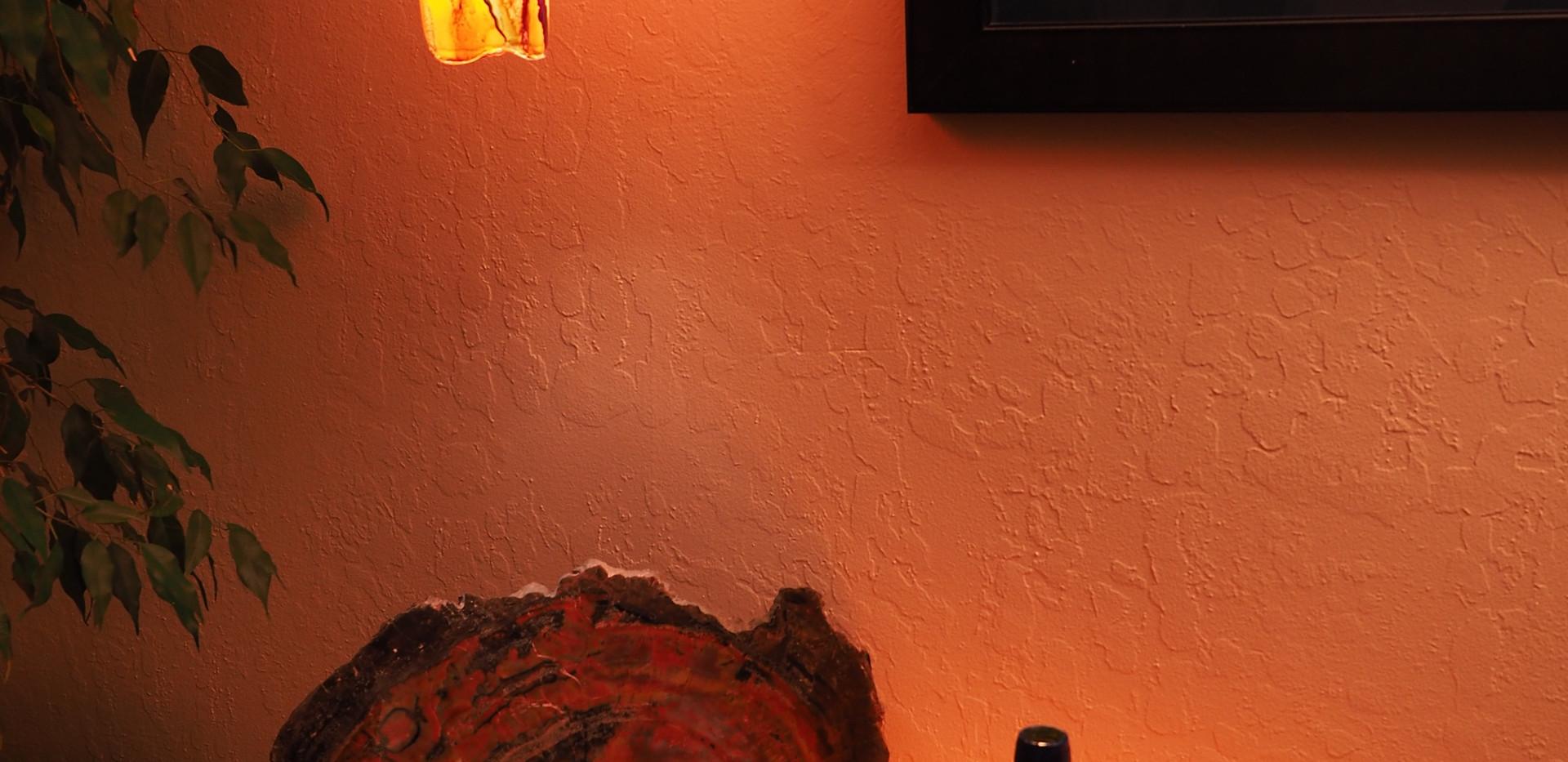 Blue-Orange bottle lamp set