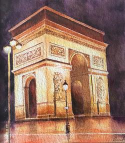 Arc de Triomphe reflections