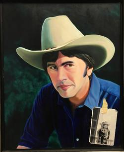 Double self portrait as cowboy