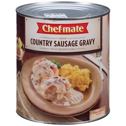 #10 Can Sausage Country Gravy (chefmate)