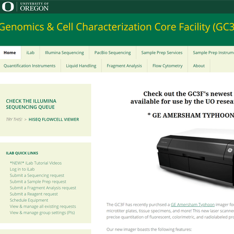 Genomics and Cell Characterization Core Facility