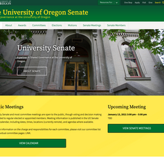 The University of Oregon Senate