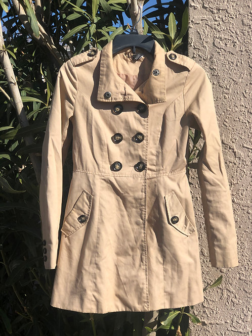 Cute Double Breasted Rain Coat with Pockets