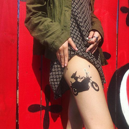 Bruja Bike Temporary Tattoo
