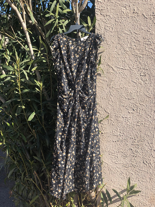 90s Floral Sleeveless Maxi