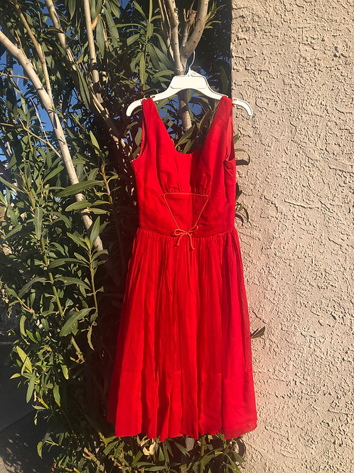 Adorable 50s/ early 60s Cherry Red Party Dress