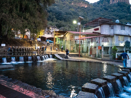 Water blessing in Chalma, Mexico.