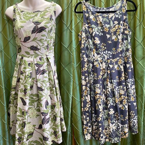 Vintage style 100% cotton dresses