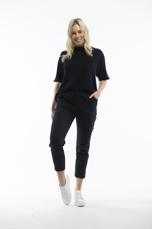 Basic black pant - no buttons or zips!