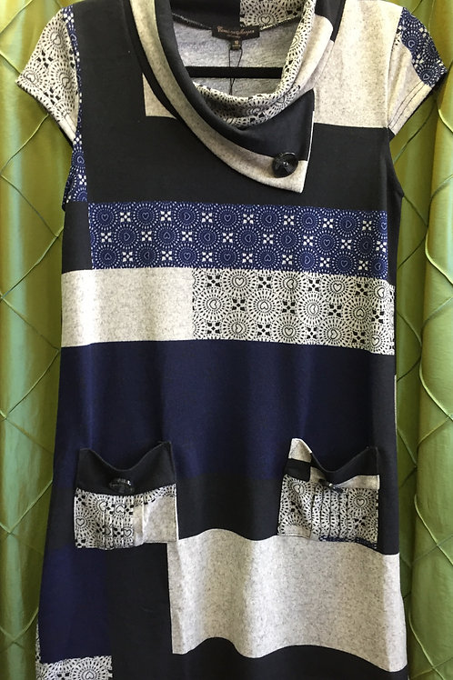 Navy patch winter tunic!