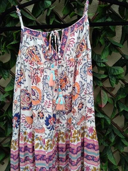 Tassel front maxi dress by Orientique