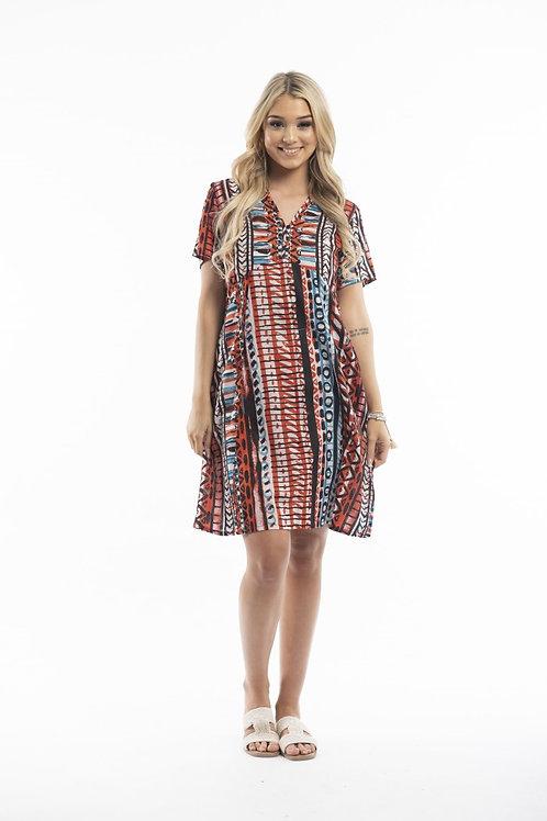 Earthy tones dress by Orientique