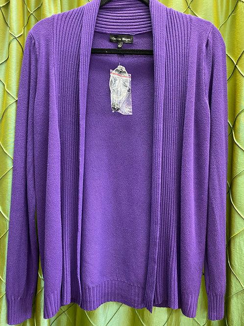 Purple Ribbed cardigan
