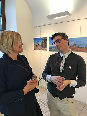 Curator Marcello Cazzaniga with Dita Jac
