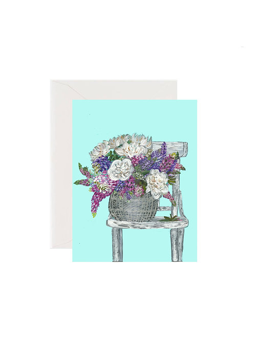 Spring Floral Chair