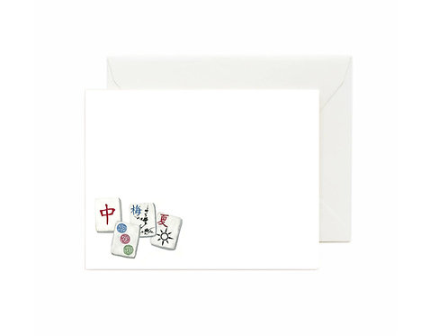 Mahjong Flat Note Cards