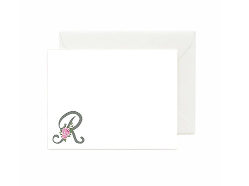Letter R Flat Note Cards