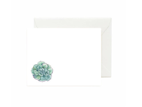 Succulent Flat Note Cards