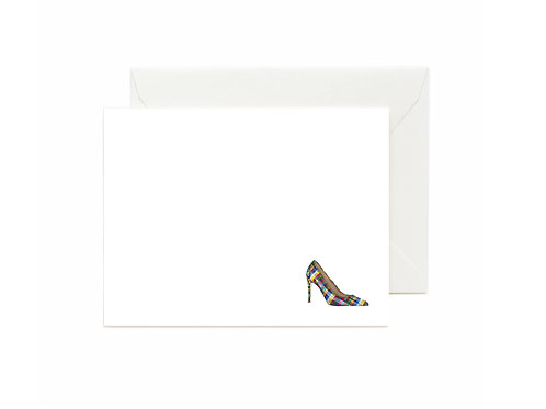 Plaid Stiletto Flat Note Cards