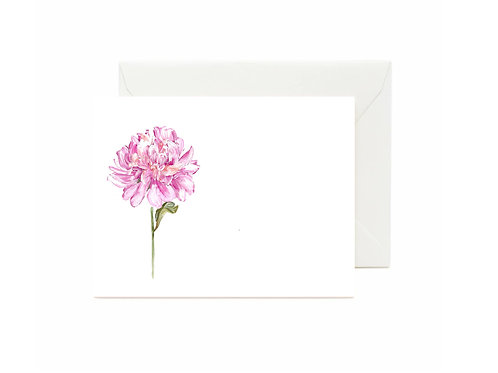 Peony Flat Note Cards
