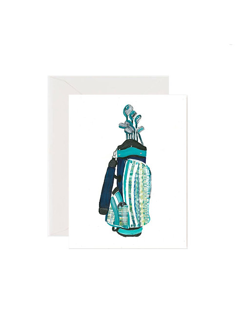Plaid Turquoise Golf Bag