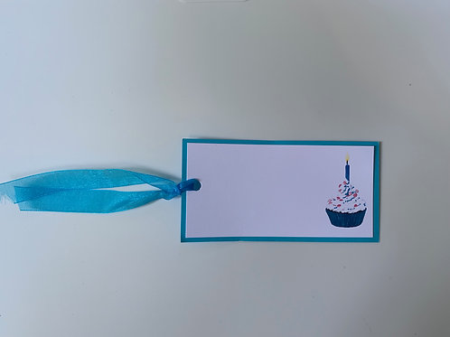 Blue Cupcake Gift Tags