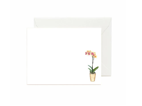 Orchid Flat Note Cards