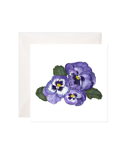 Blue Pansies Gift Enclosures