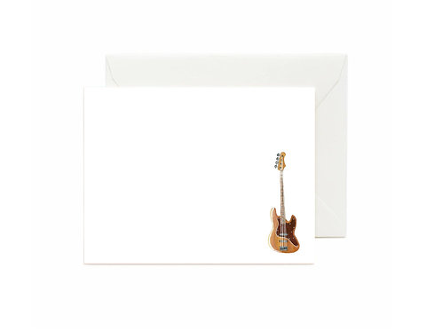 Bass Guitar Flat Note Cards