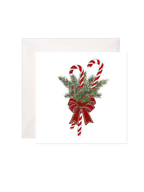 Candy Cane Holly Gift Enclosures