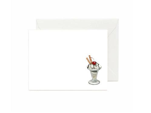 Ice Cream Sundae Flat Note Cards