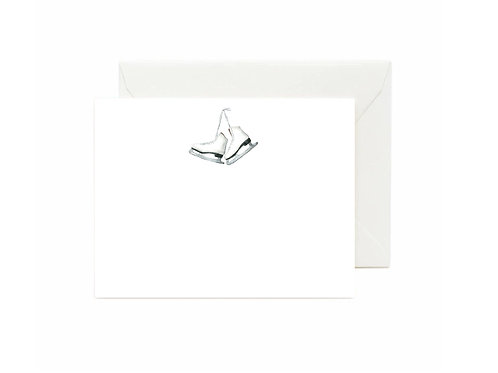 Ice Skates Flat Note Cards