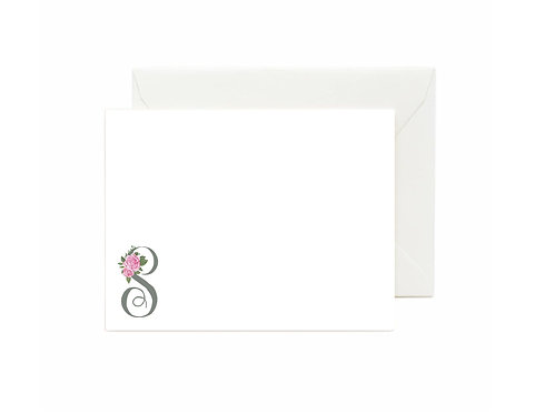 Letter S Flat Note Cards