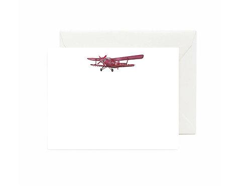 Airplane - Biplane Flat Note Cards